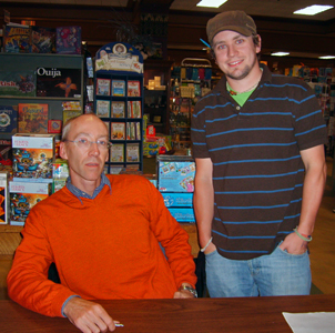 Me and Steven Erikson, author of The Malazan Book of the Fallen